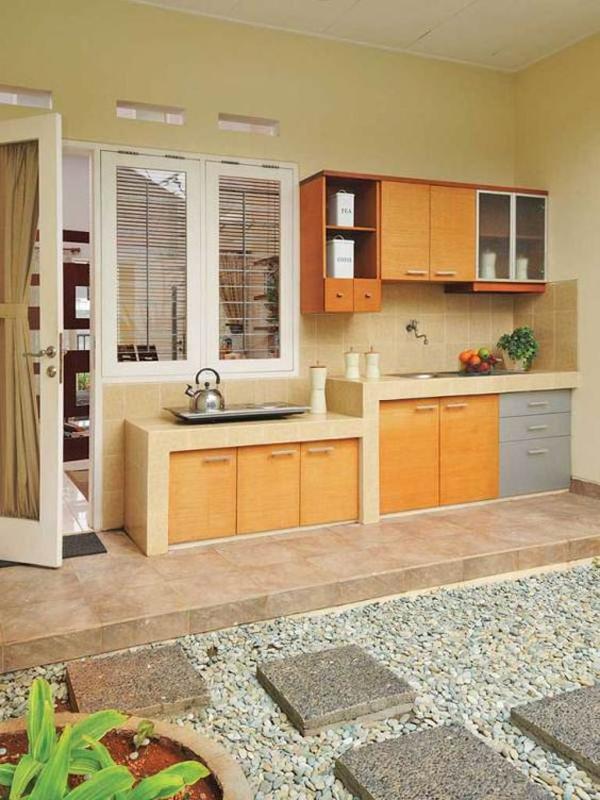 dekorasi dapur terbuka minimalis
