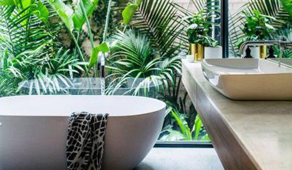 kamar mandi dengan pemandangan alami