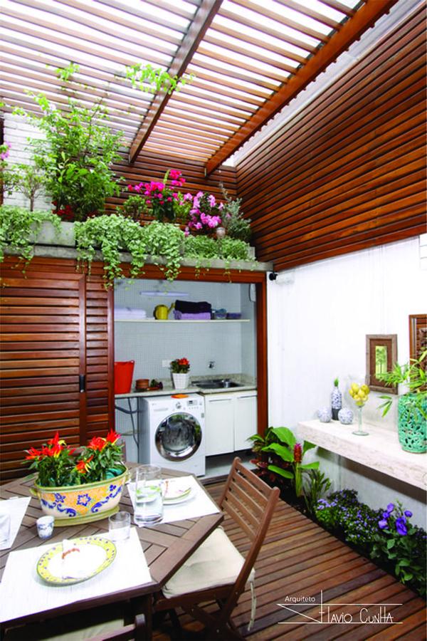 ruang cuci dengan ruang makan