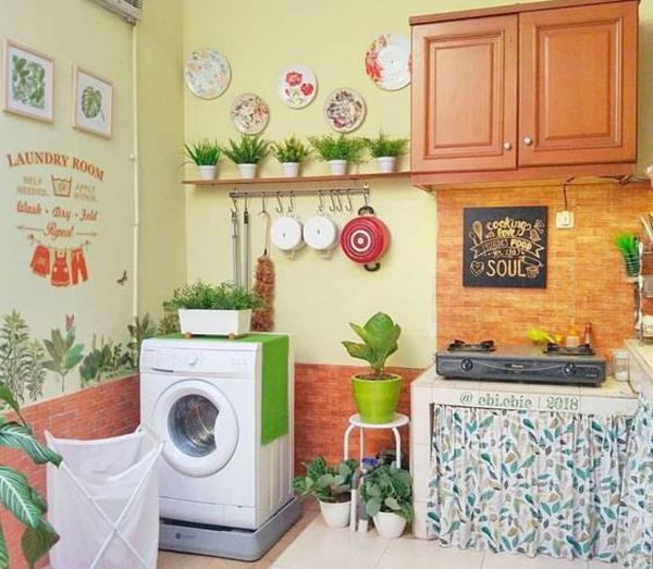 ruang cuci dengan area dapur