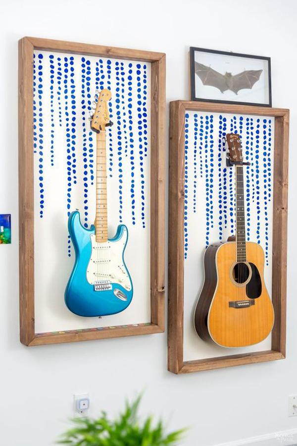 dekorasi-bingkai-gitar-untuk-dinding