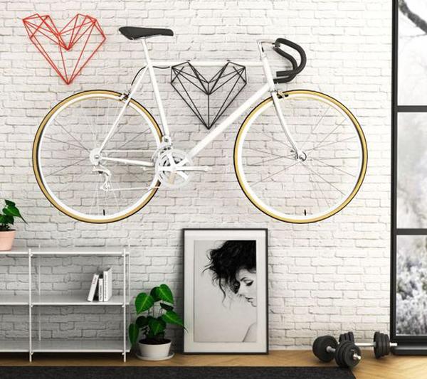 desain-rak-sepeda-artistik-di-dinding-interior