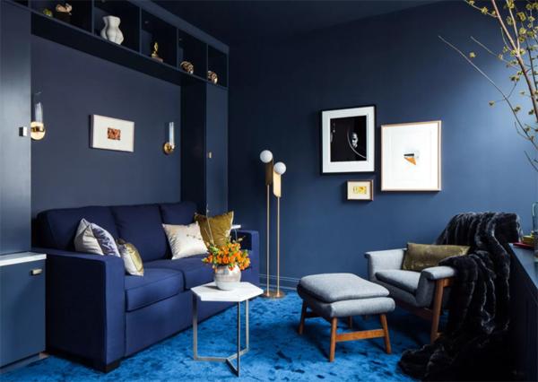 desain-ruang-tamu-biru-monokrom