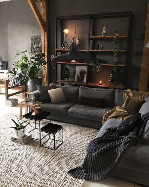 dekorasi-ruang-tamu-bergaya-industri-dengan-tema-hitam