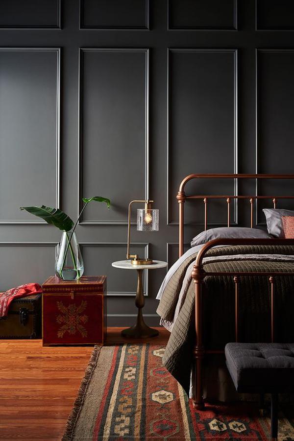 desain-kamar-tidur-klasik-warna-hitam