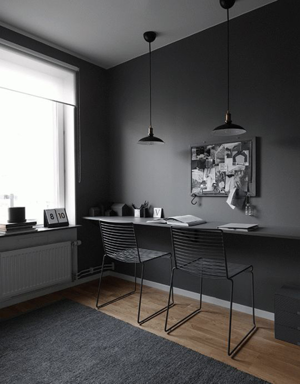 desain-kantor-rumah-warna-hitam