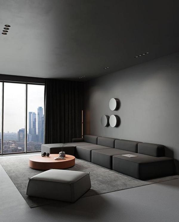 interior-minimalis-moderen-warna-hitam