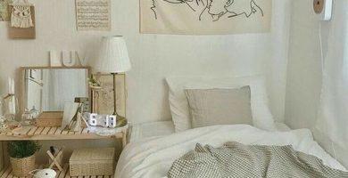 kamar-tidur-gaya-korea-bernuansa-putih