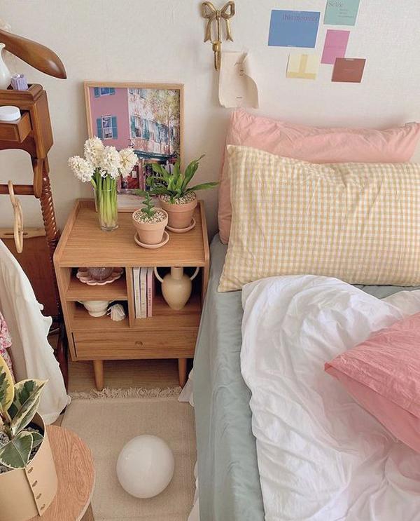 kamar-tidur-korea-bertema-kotak-kotak