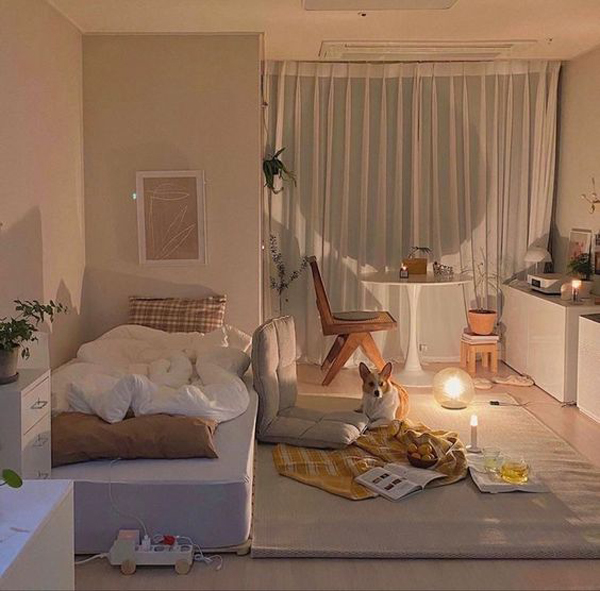 kamar-tidur-korea-dengan-elemen-putih
