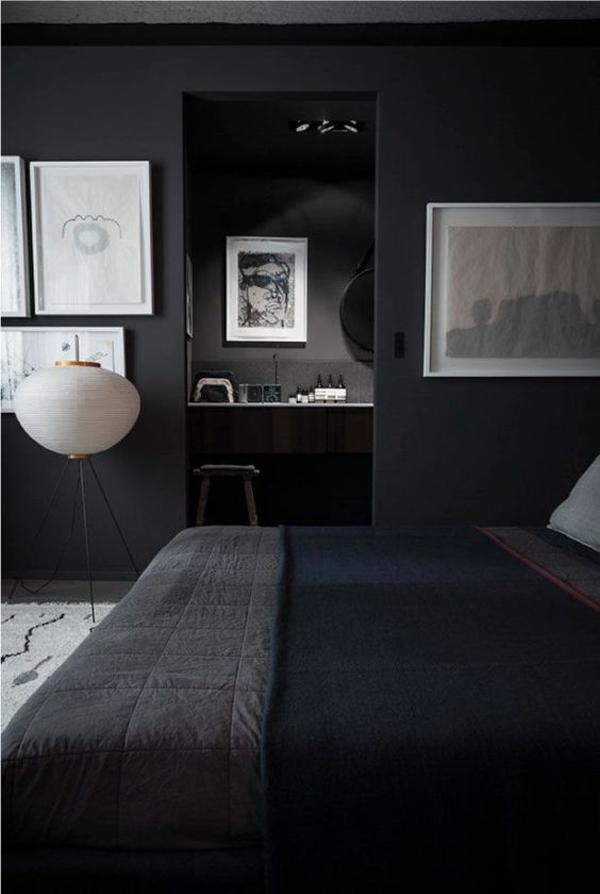 kamar-tidur-warna-hitam-dengan-ruang-kerja