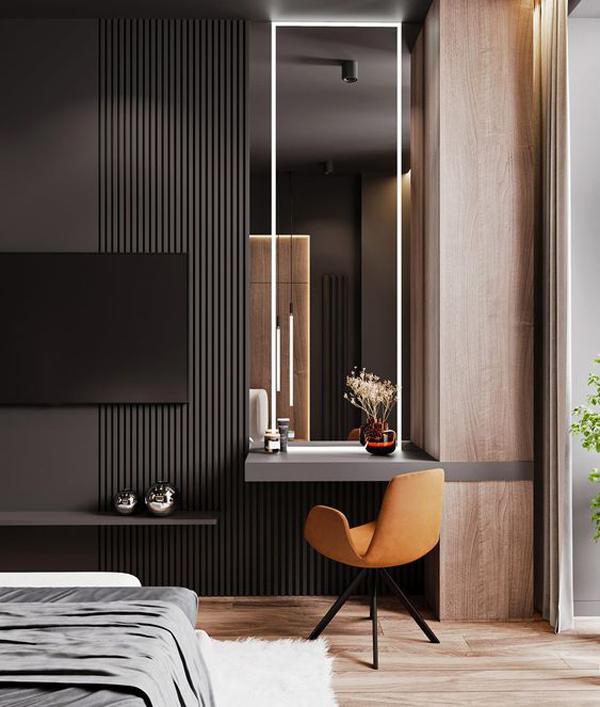 ruang-kerja-moderen-dengan-warna-hitam-dan-abu-abu