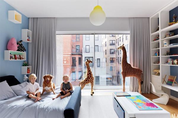 kamar-tidur-anak-minimalis-bertema-hutan-di-apartemen