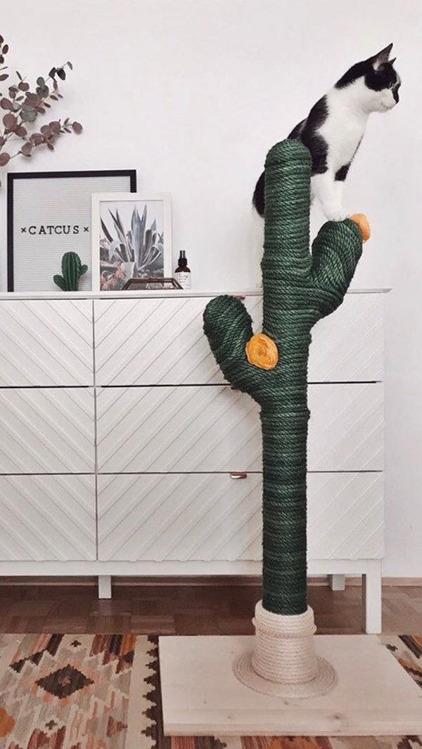 pohon-kaktus-DIY-untuk-kucing