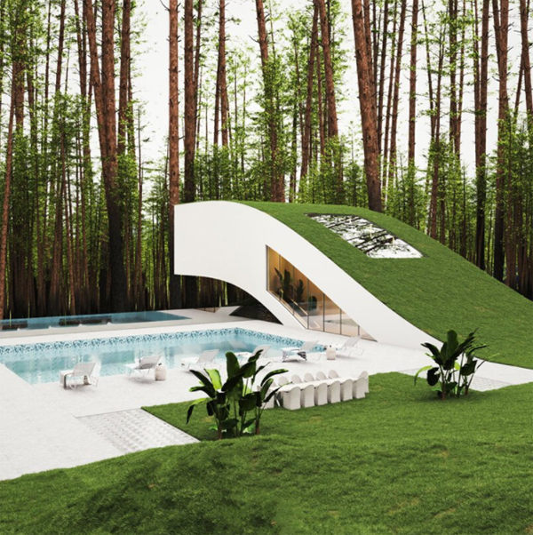 rumah-lanskap-dengan-kolam-renang