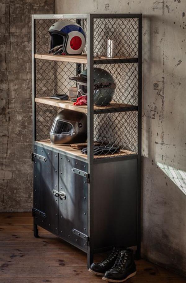 desain-lemari-kayu-dengan-rak-helm