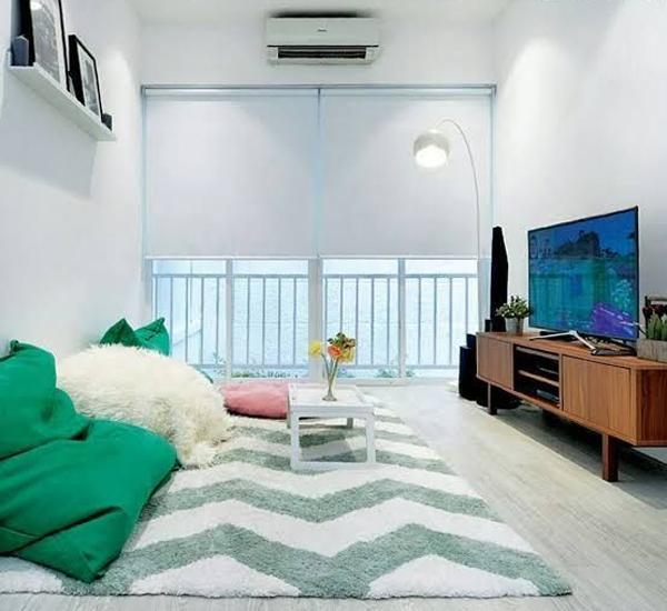 desain-ruang-keluarga-modern-dengan-karpet-dan-bean-bags
