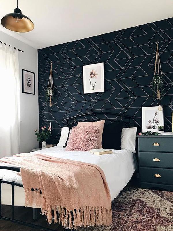 desain-dinding-kamar-tidur-geometris