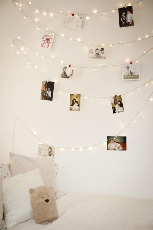 dekorasi-foto-dinding-kamar-tidur-dengan-string-light