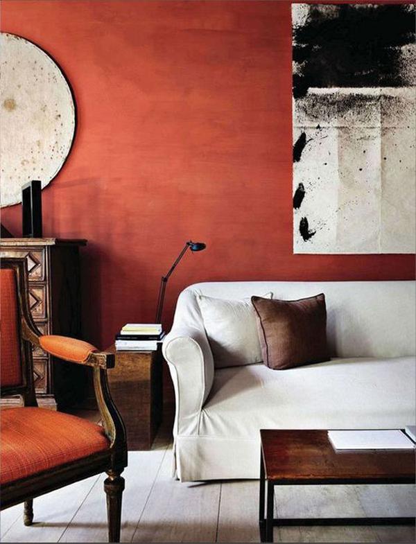 dekorasi-ruang-tamu-maskulin-dengan-cat-terakota