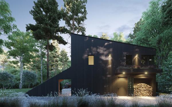 desain-rumah-bukit-dengan-halaman-belakang-hutan