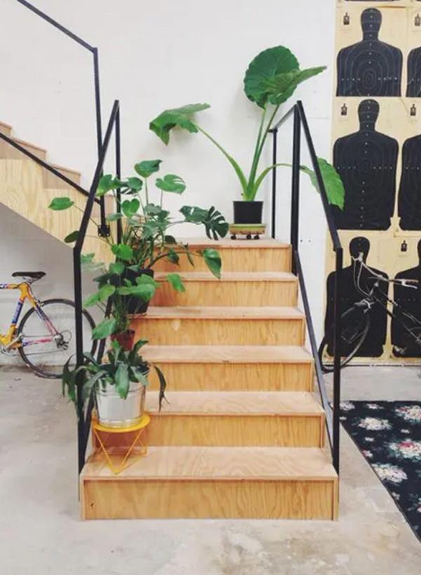 ide-tanaman-dedaunan-untuk-tangga