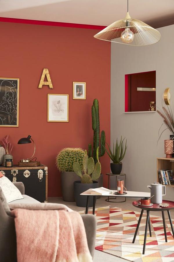 ruang-tamu-modern-klasik-dengan-skema-warna-terakota